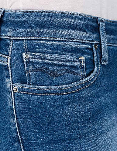 Donna A Zampa mid 9 Denim Replay Jeans Blu Blue Tfq5HxtwZ