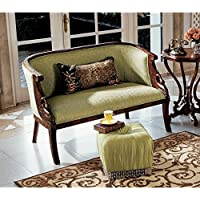Design Toscano Due Cigno Settee Loveseat