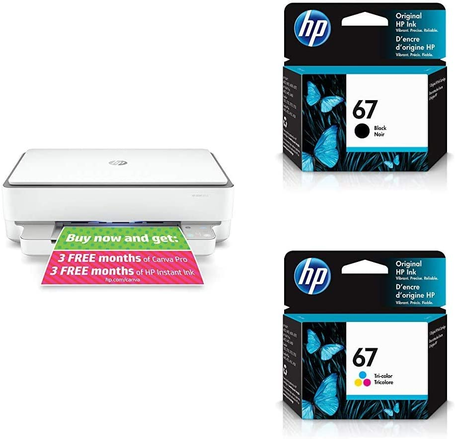HP Envy 6055 All-in-One Printer (5SE16A) with Ink Cartridges - 4 Colors