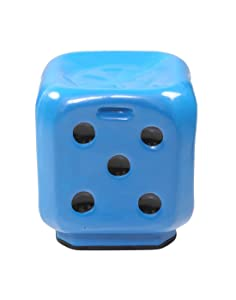 STOOL DICE BLUE Premium High Quality FIBER Material UNBREAKABLE Durable Dice Sitting Stool (FIBER) For Living Room/Home/Office/Bathroom/Outdoor Stool With Anti-Skid Rubber| Stool With Sturdy compact and stylish.