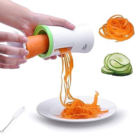 Uten Vegetable Spiralizer Slicer Hand Held Spiral Slicer Easy Clean Kitchen Tool For Potatocarrotcucumber