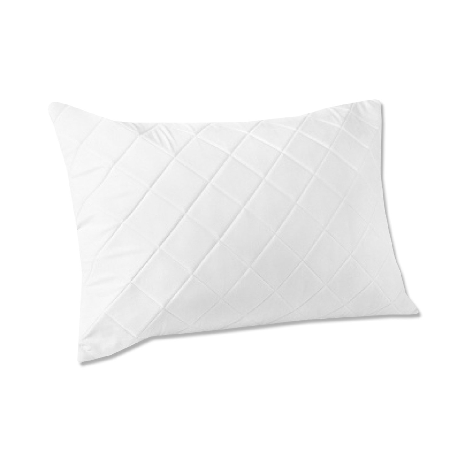 Levinsohn Memory Foam Quilted Pillow Protector, Standard/Queen FRE154XXWHIT10