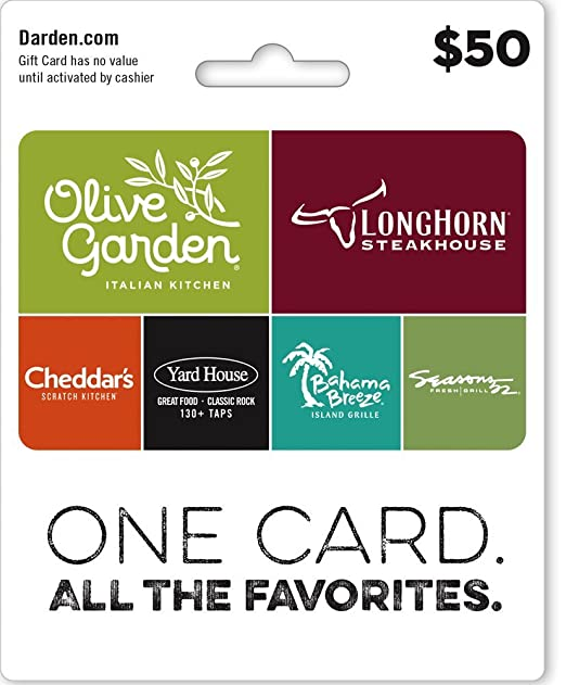 Amazon.com: Darden Restaurants Gift Card $25: Gift Cards