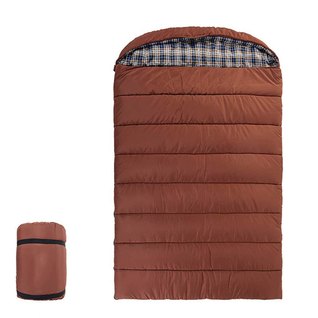 RXF Al Aire Libre de Tres Personas para Dormir en Familia Saco de Dormir Camping Viaje portátil Caliente (Color : 1#, Tamaño : (74.80+11.81)*55.11in): ...