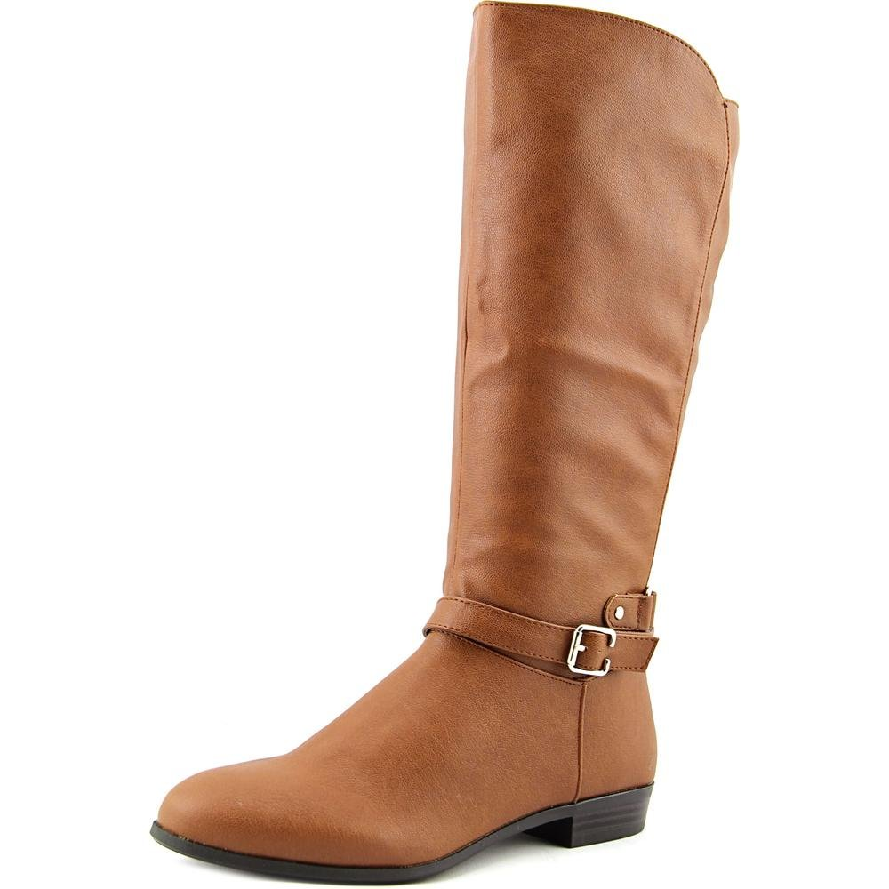 Style & Co. Womens FAEE Round Toe Mid-Calf Riding Boots, Saddle, Size 7.0