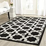 Safavieh Amherst Collection AMT418L Anthracite and Grey Indoor/Outdoor Area Rug (8′ x 10′)