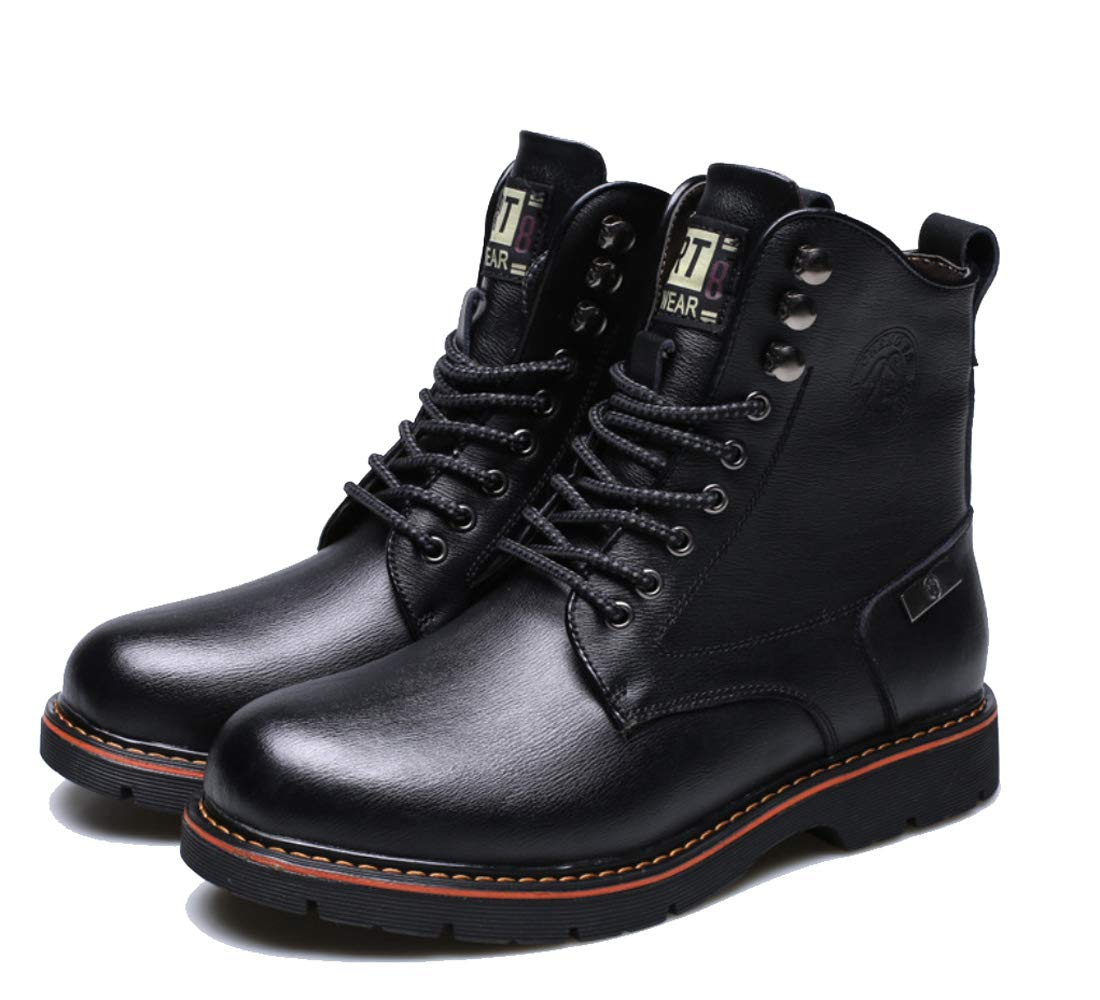 DANDANJIE Herrenmode Stiefel Leder Leder Stiefel Winter Casual Stiefel Warm halten hohe top Stiefel Schwarz Braun c66a7b