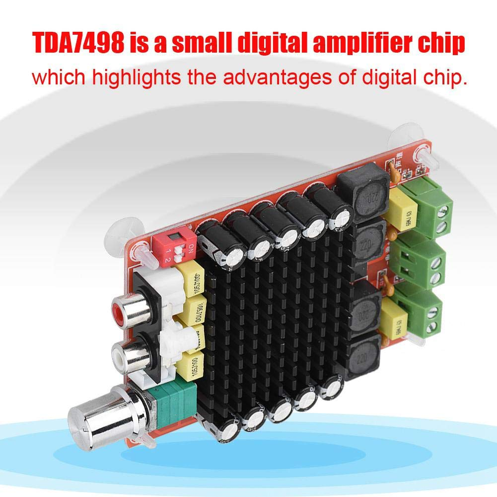 Dual Channel Digital Power Audio Stereo AMP Module 2x100W for Audio System DIY Speakers Tangxi TDA7498 Audio Amplifier Board 18-100khz DC15-32V Input
