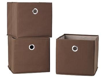 StorageManiac Folding Canvas Storage Bin, Open Storage Basket With Built In  Grommet Handles,
