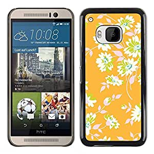 Paccase / SLIM PC / Aliminium Casa Carcasa Funda Case Cover para - Floral Wallpaper Leaves Green - HTC One M9