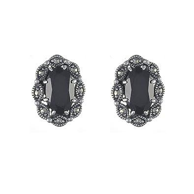Esse Marcasite Sterling Silver Marcasite Bumble Bee Stud Earrings W4N69