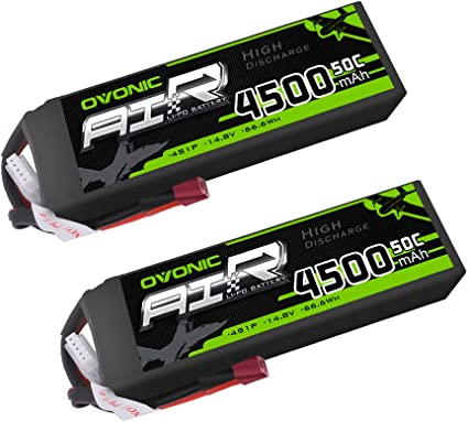 Ovonic 6000mAh 4S 14.8V 50C Lipo Battery Deans Plug For RC Helicopter Airplane