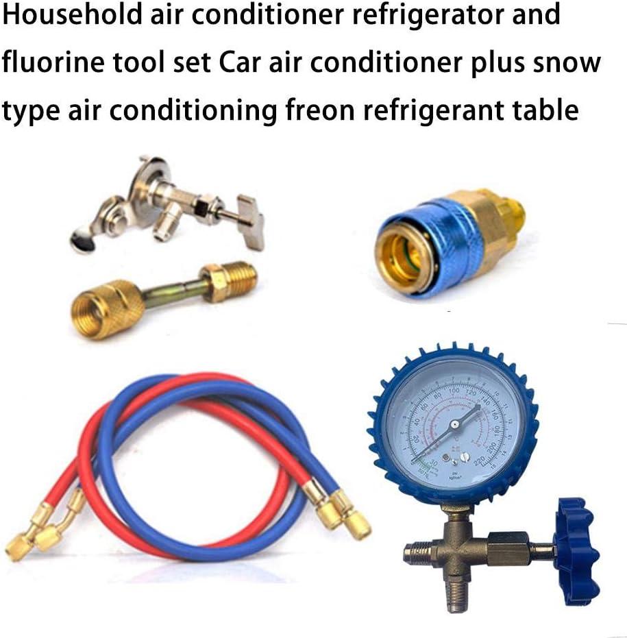 ningxiao586 R22 R134A R410 R600 Kit de Recharge de Tuyau de Mesure de Charge de r/éfrig/érant pour climatisation avec jauge pour Voiture//Maison