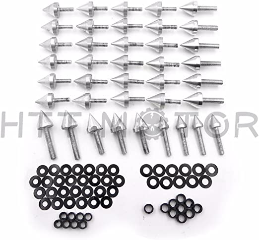 Motorcycle Spike Fairing Bolts Kit Compatible with 2003-2007 Yamaha YZFR6 2006-2010 Yzf R6S HTTMT MT215-007