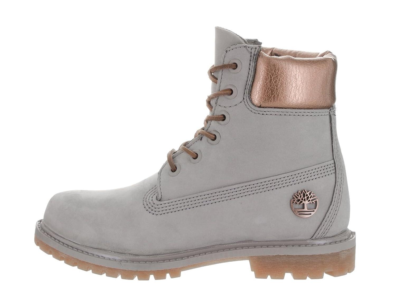 Women's AF 6 Inch Premium Grey W/Metallic Boot 8.5 Women US