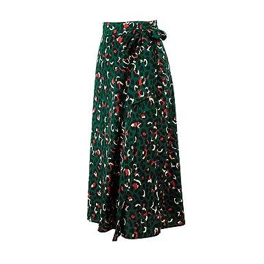 Falda Cruzada Floral Faldas Largas para Mujer Cover Up Faldas ...