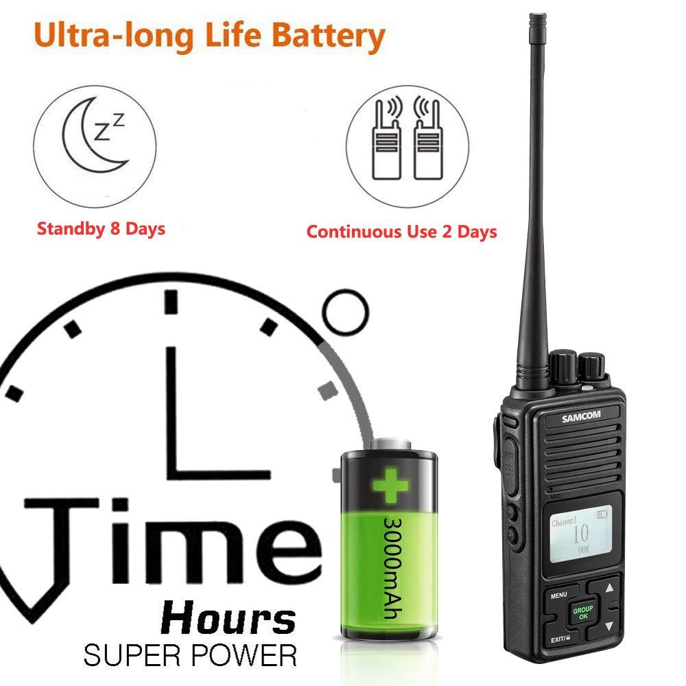 SAMCOM FPCN10A Walkie Talkie 20 Channels Wireless Intercom Group Button GMRS Two Way Radio,UHF 400-470MHz 2 Watt / Sancon Inc FPCN10A-09 Pack of 9