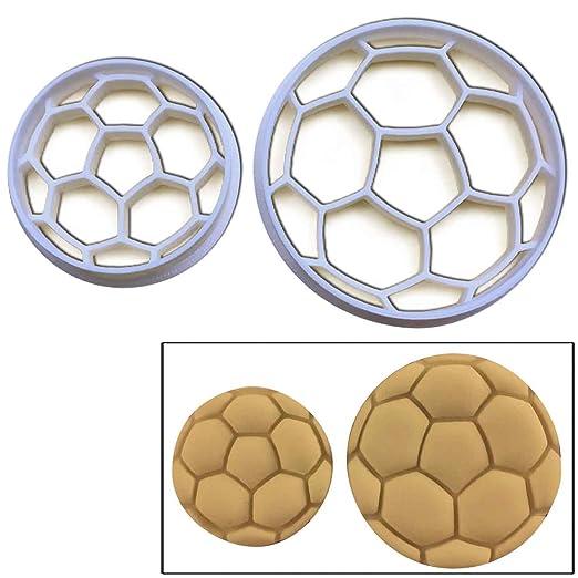 Set de 2 galletas con forma de balón de fútbol (tamaño grande y ...
