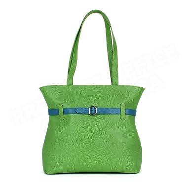Volumica Sac Cabas Shopping Amélie cuir Vert anis Beaubourg  Amazon ... 5a7d3e39aeec