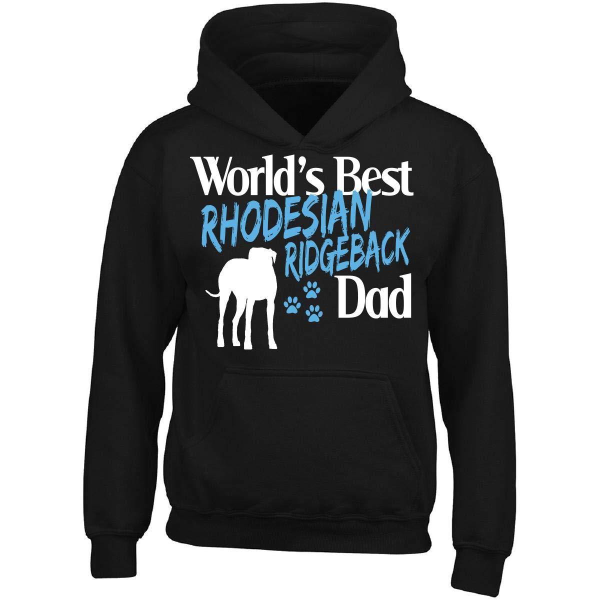 Rhodesian Ridgeback Worlds Best Dog Dad Adult Hoodie Pet Owner