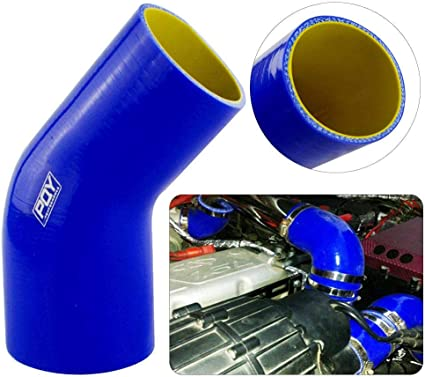 45 Degree Elbow 64mm to 70mm 2.5/'/' to 2.75/'/' Silicone Coupler Pipe Hose Blue