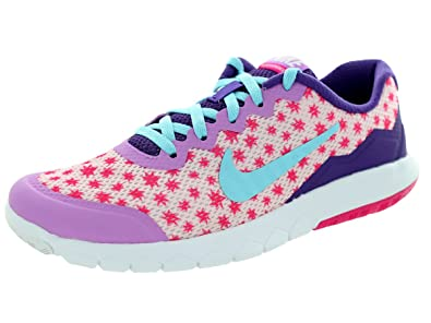 newest c2979 814e4 Nike Kids Girl s Flex Experience 4 Print Shoes, Prism Pink Fuchsia Glow Pink