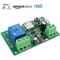 1 Channel WiFi Wireless Switch Inching Self-Locking 5V 12V PSF for Amazon Alexa Google Home