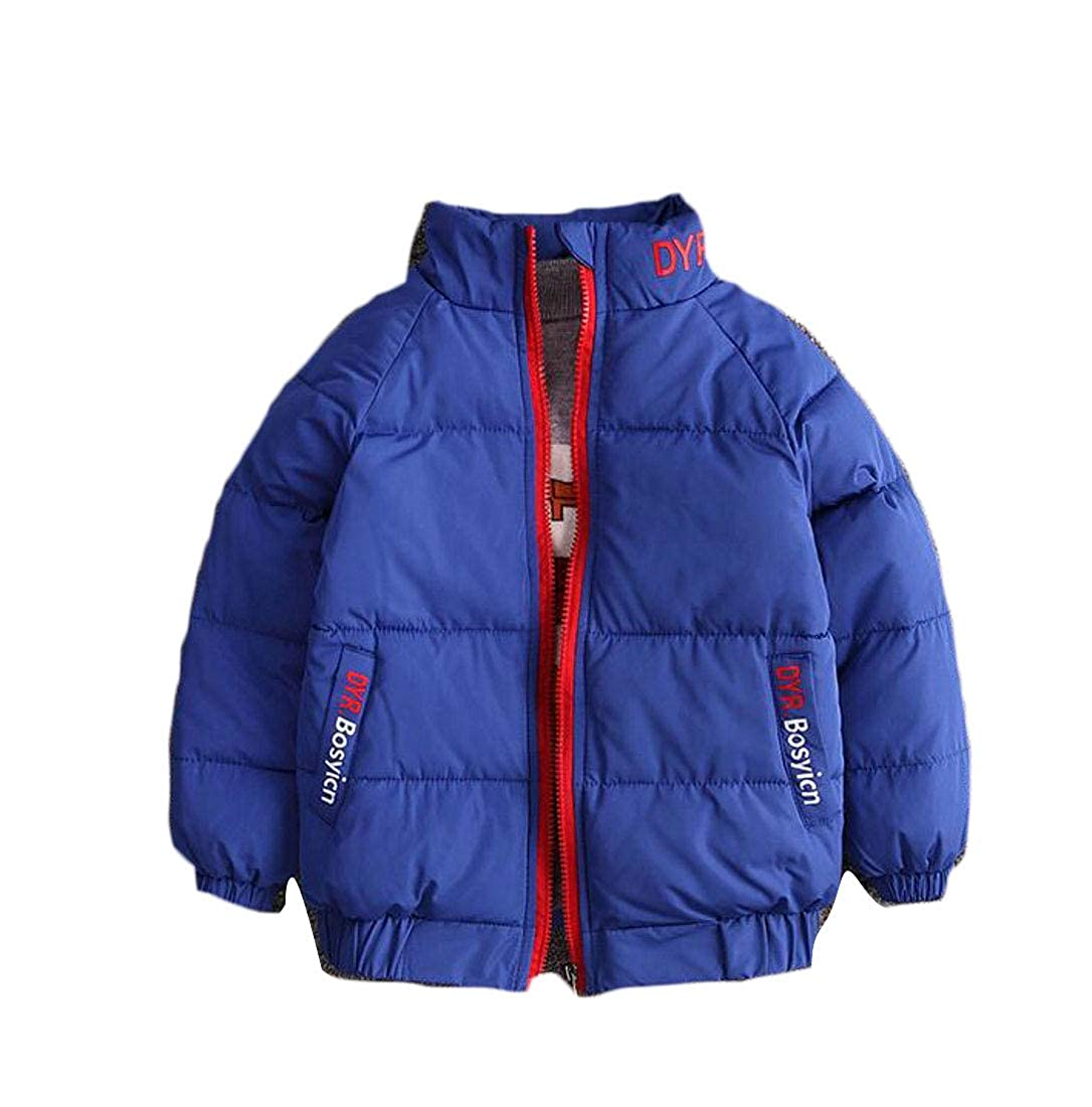 Cromoncent Boys Classic Quilted Thickened Cute Slim Jacket Parkas Coats