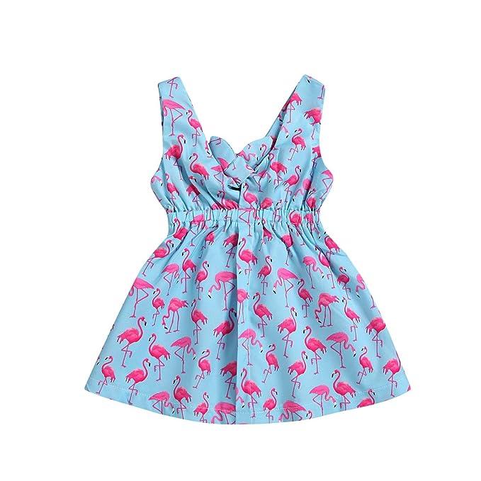 Amazon.com: Bebé recién nacido niña vestido de verano ...