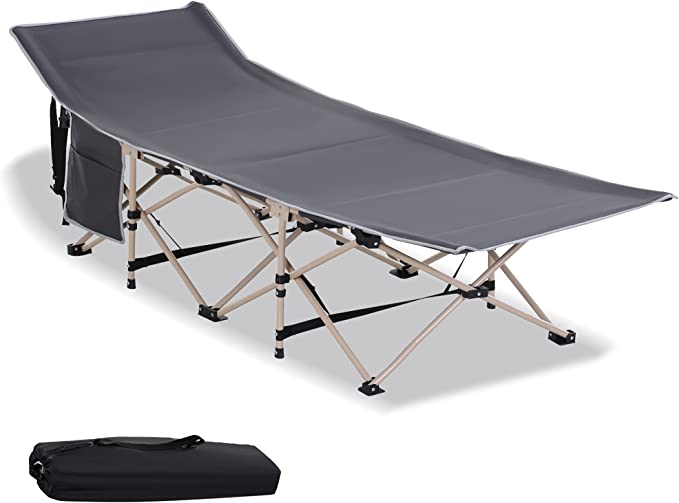 Details about  /Outsunny Single Person Wide Folding Camping Cot Outdoor Bed w// Carry Bag