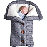 Cobertor para recém-nascido para bebês meninos e meninas, saco de dormir de malha macia e quente para manter o carrinho aquec