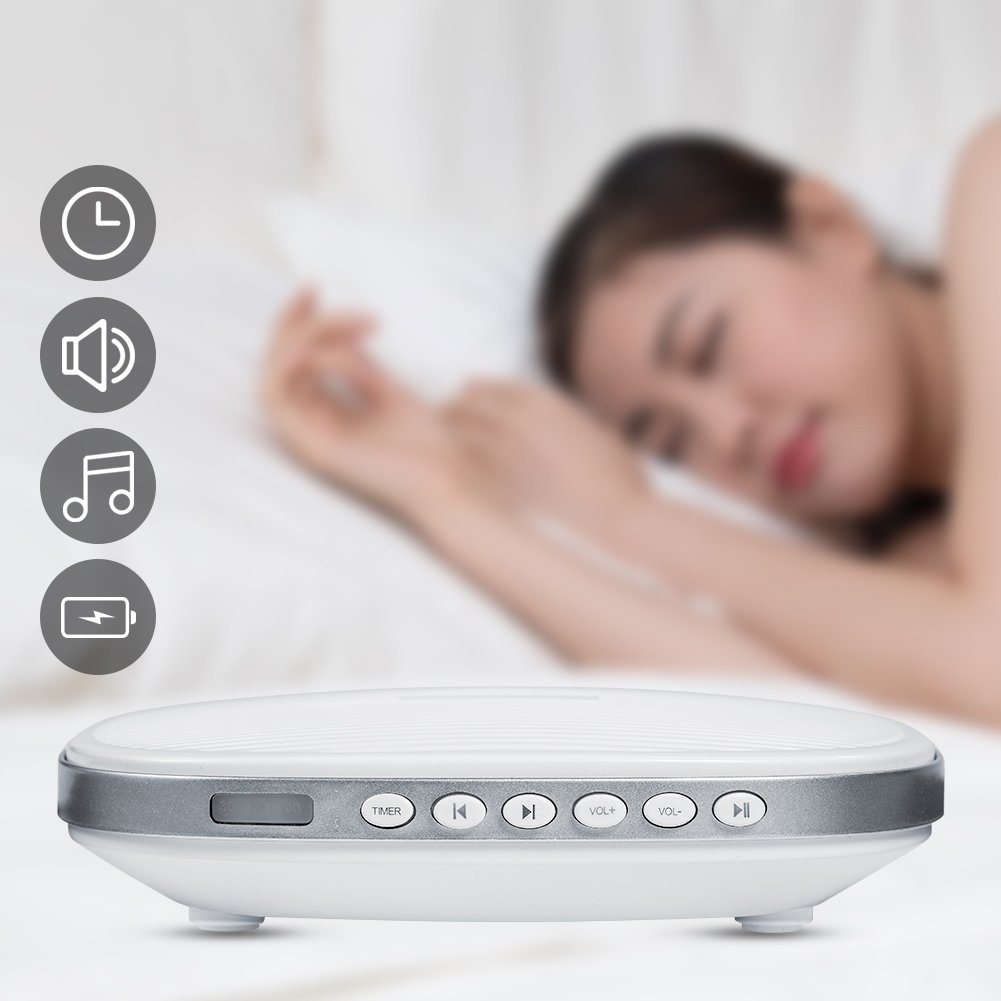 White Noise Machine, Premium Sleep Therapy Sound Machine Portable Spa Relaxation Sound Machine with 20 Natural Soothing Sounds and Sleep Timer for Home Office Baby Travel by Zerone (Image #9)