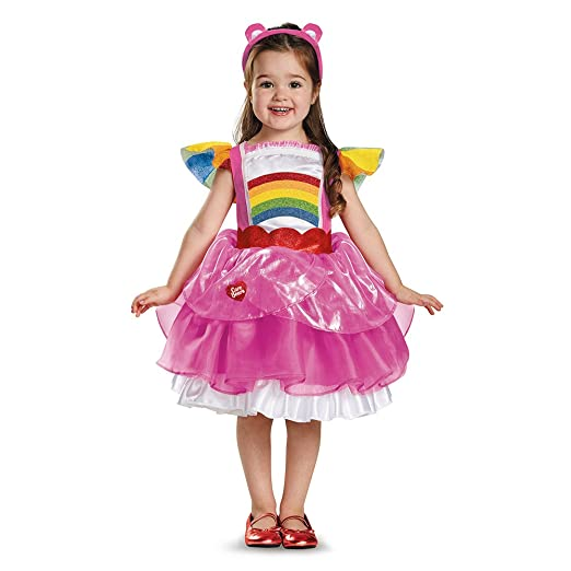 Cheer Bear Halloween Costume   Amazon Com Girls Cheer Bear Care Bears Deluxe Tutu Toddlers Costume