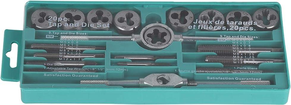 Gewindeschneidsatz Gewindeschneider Gewindeschneid 20 tlg Werkzeug Set M3-M12