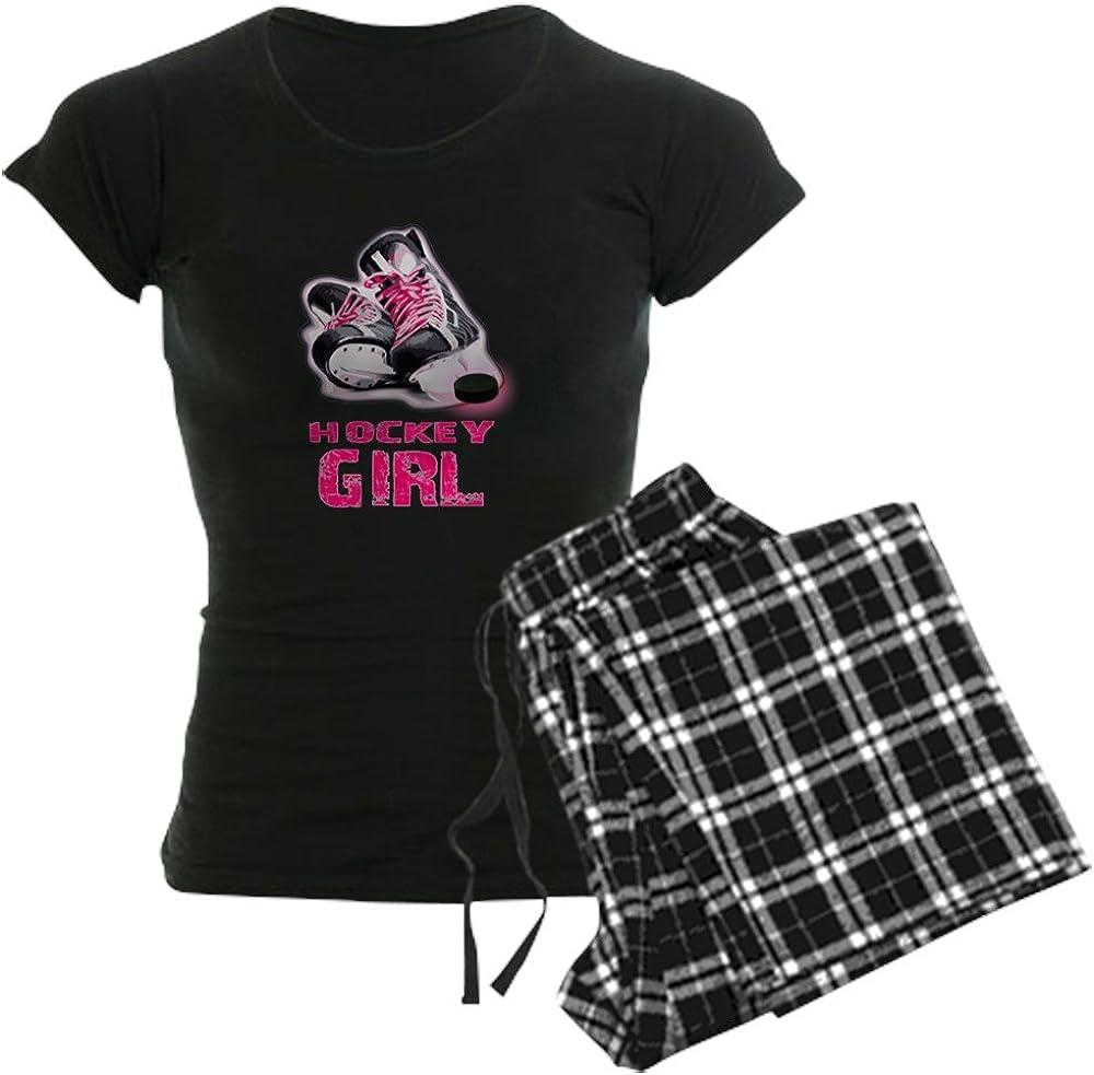 CafePress Hockey Girl Pajamas Womens PJs