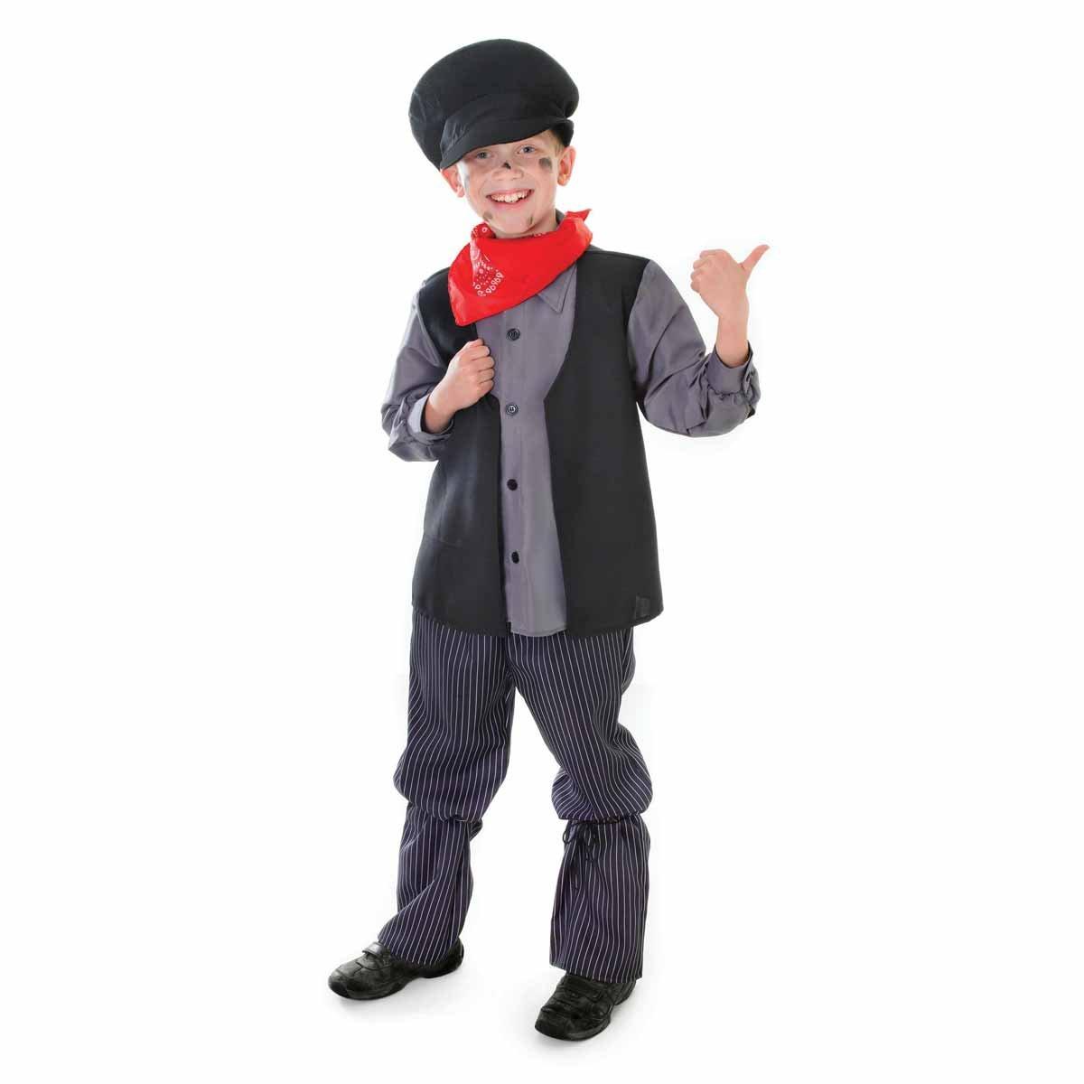 Bristol Novelty Large Grey Boys Chimney Sweep Costume