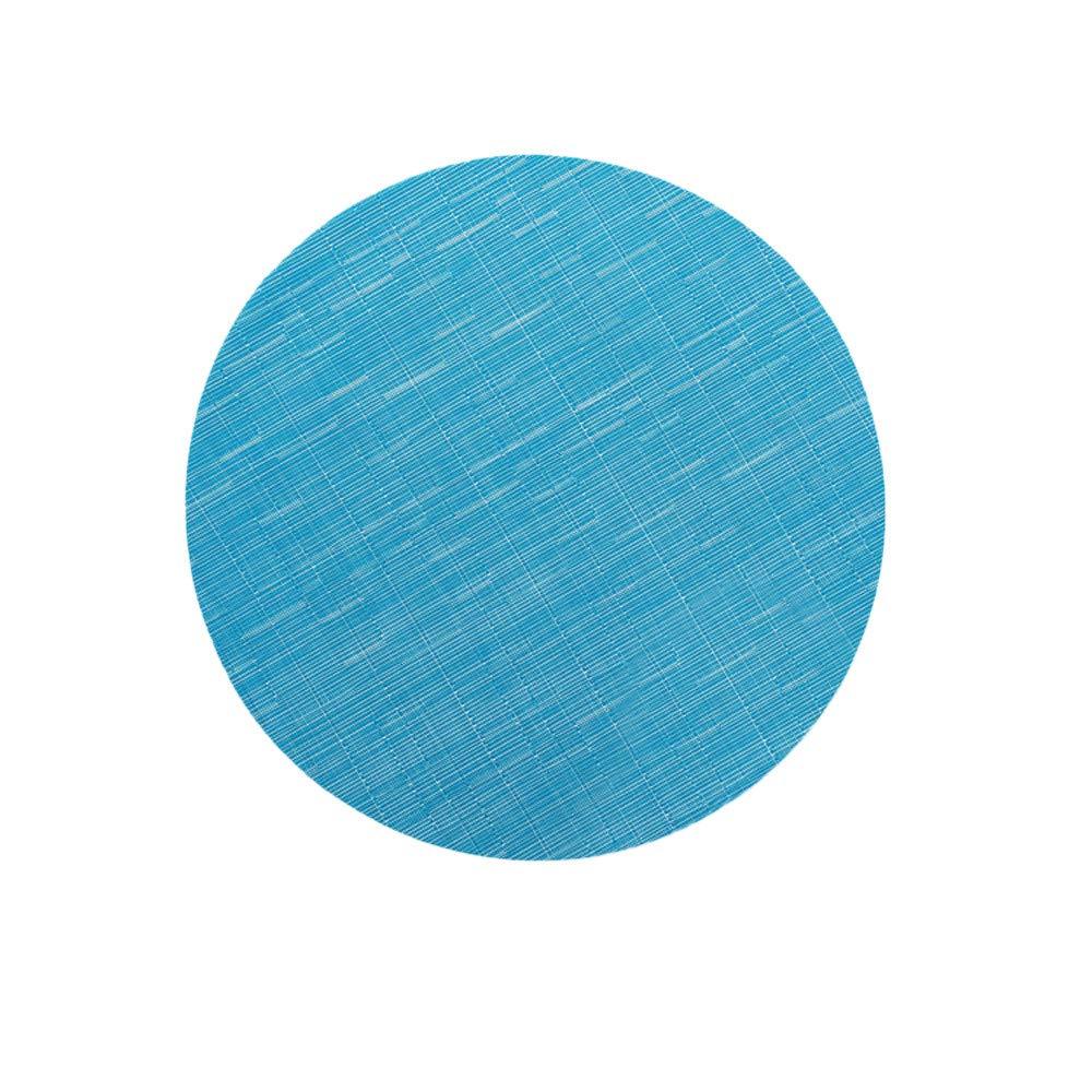 FILOL Placemats -Non-Slip Heat Desktop Decoration Modern Waterproof Food Mat Waterproof Washable (Sky Blue)