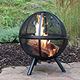 Sunnydaze Flaming Ball Moons and Stars Fire Pit, 30 Inch Diameter