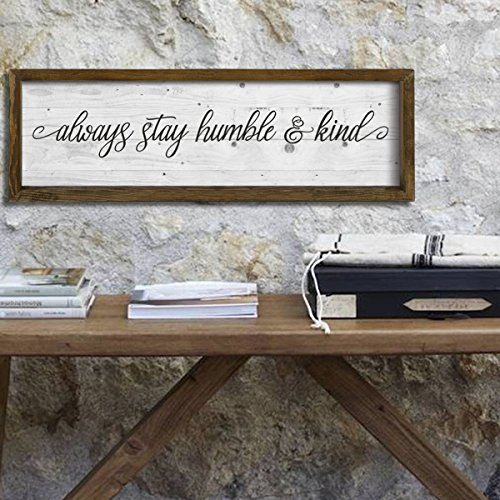 LaModaHome Advice Words Home Decor, 100% Pine Wood Frame - A