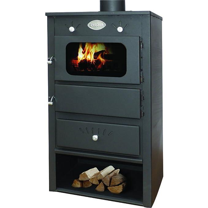 Caldera de leña estufa zvezda, Modelo 4 VR 12, salida de calor 19 kW: Amazon.es: Bricolaje y herramientas