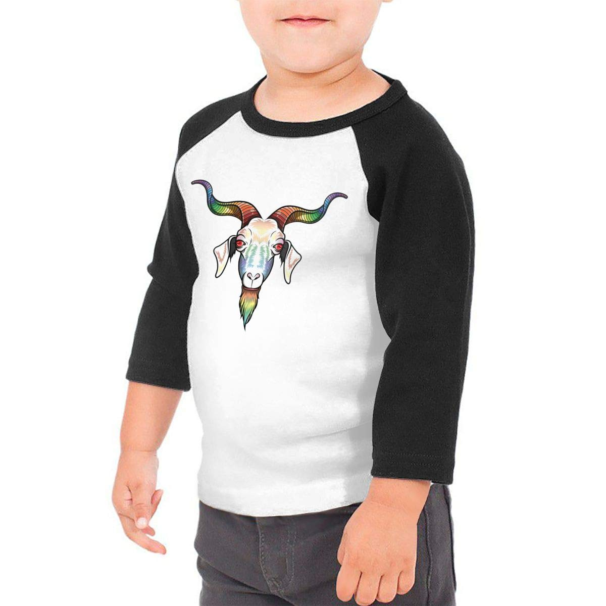 Rainbow Goat 1 Unisex Toddler Baseball Jersey Contrast 3//4 Sleeves Tee