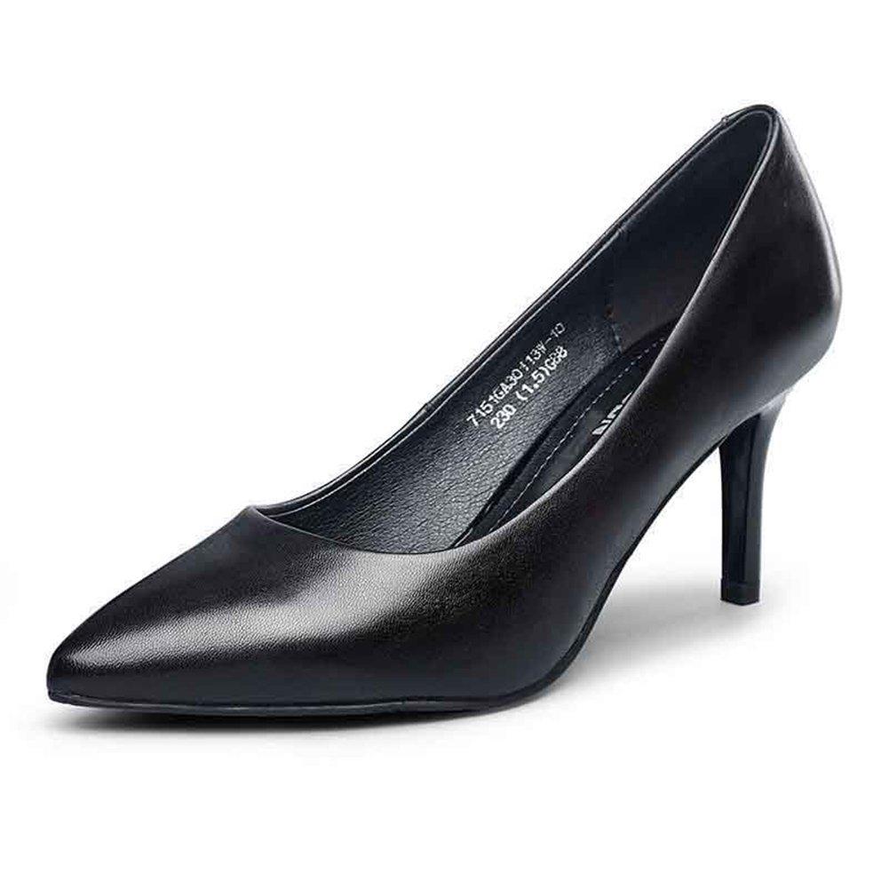 WYYY Damenschuhe High High High Heels Gut mit Flacher Mund Spitze Freizeitschuhe 7,3 cm (Größe   EU39 UK6) 49d027