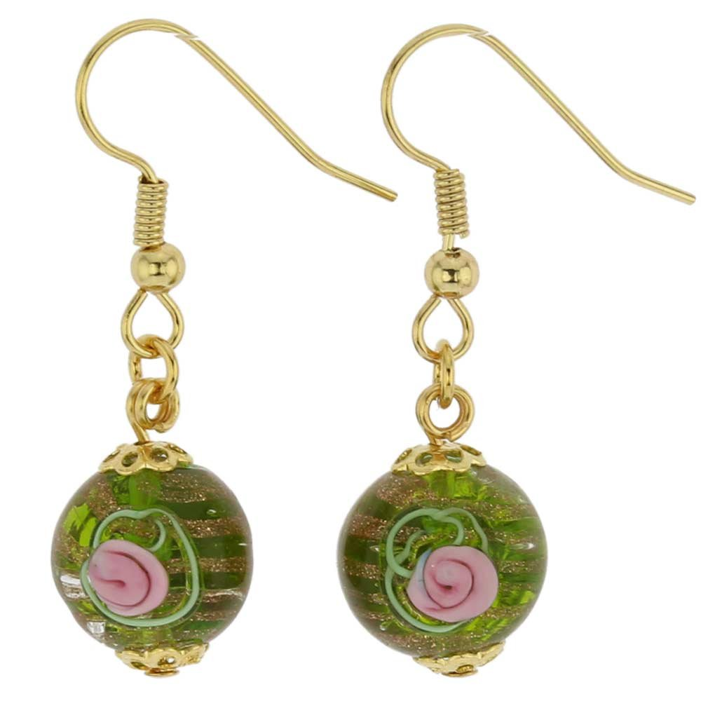 GlassOfVenice Murano Glass Magnifica Earrings - Emerald Green