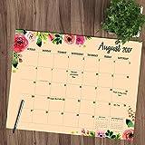 2018 Academic Year Floral Desk Blotter July 2017-June 2018