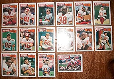 1987 Topps Washington Redskins Team Set (16) Monk Green