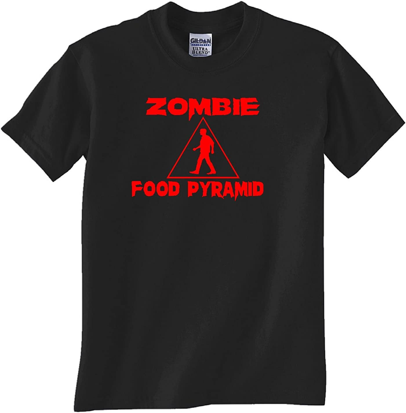 Zombie Food Pyramid Black T Shirt