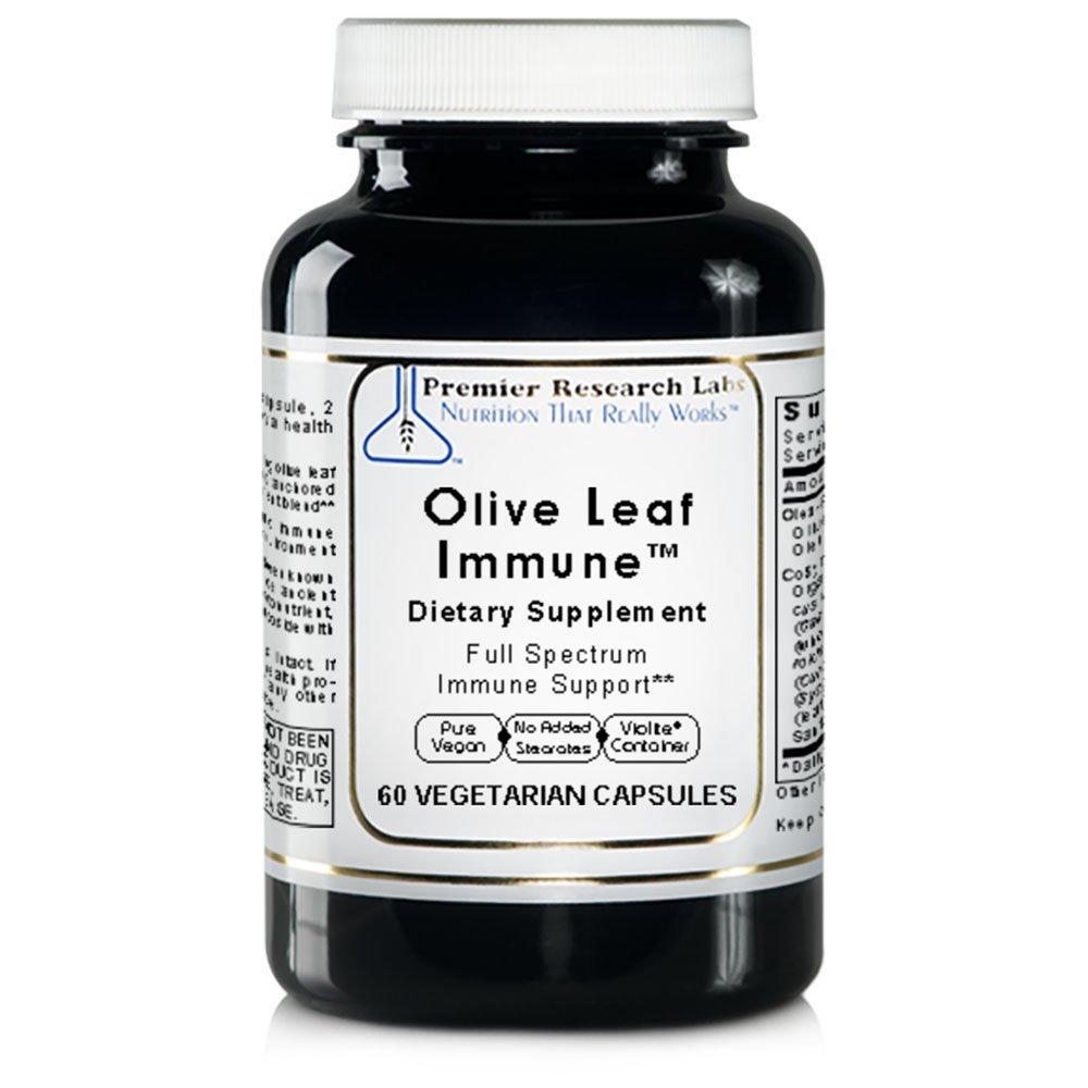 Olive Leaf Immune TM, 180 Caps/3 Bottles, Vegan - Premier Research/Quantum Labs Olive Leaf Extract Formula for Full Spectrum Immune