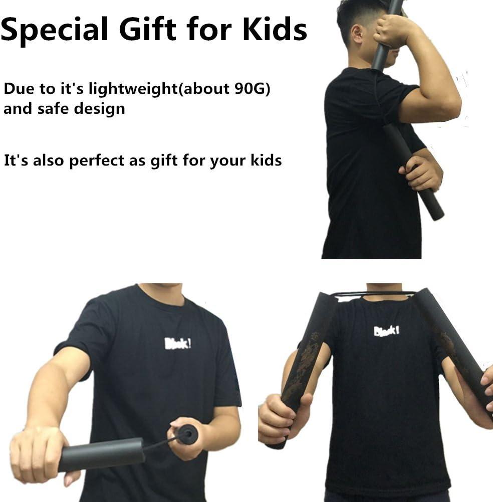 mejor regalo juguete para ni/ños de aumotoo 2/Pack Martial Arts Espuma acolchada pr/áctica Entrenamiento cuerda Nunchakus para beiginners