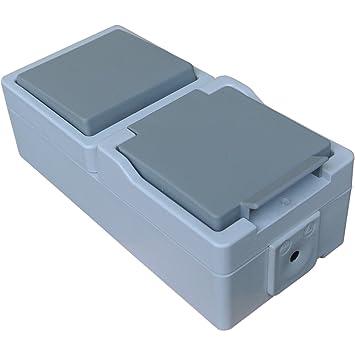 Großartig Kombination: Einfachschalter / Lichtschalter + Schukosteckdose  IG88