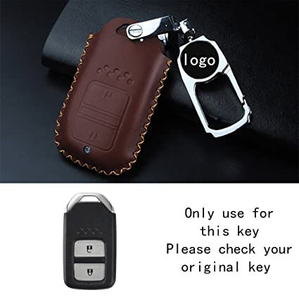 Amazon Com Raoping Leather Car Key Case Cover Holder Keychain For